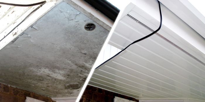 before and after asbestos soffit